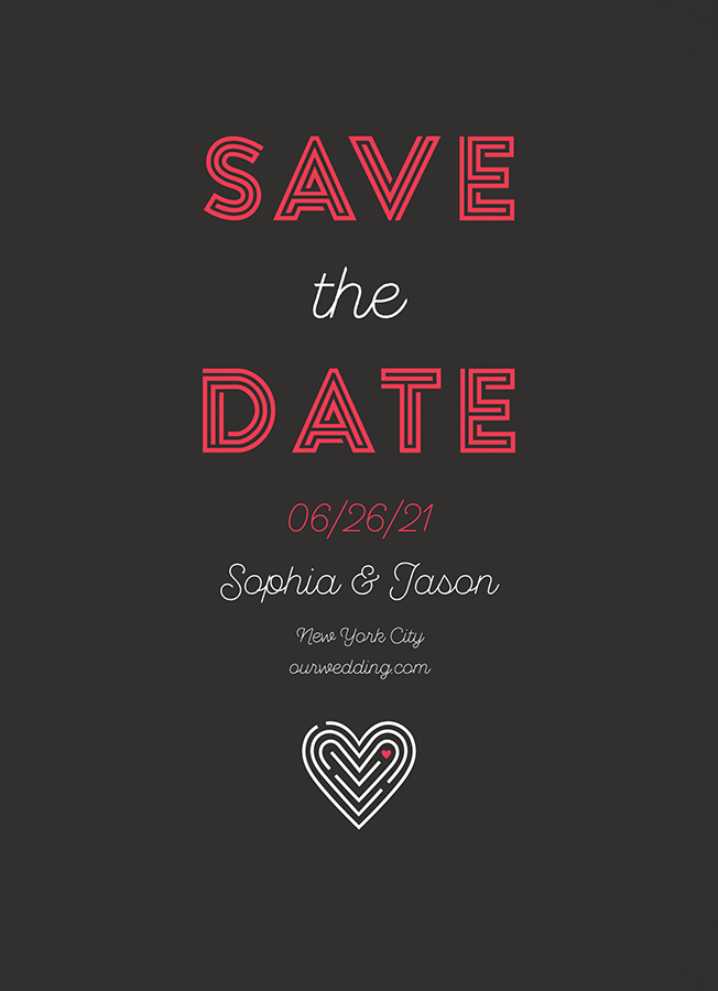 Heart Maze Save The Date
