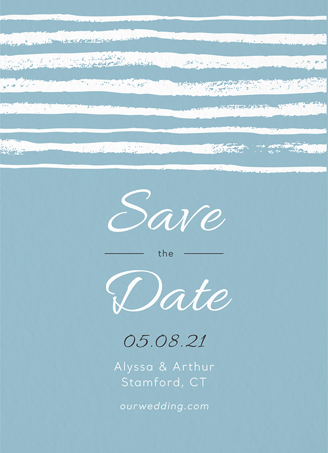 Brushy Stripes Save The Date