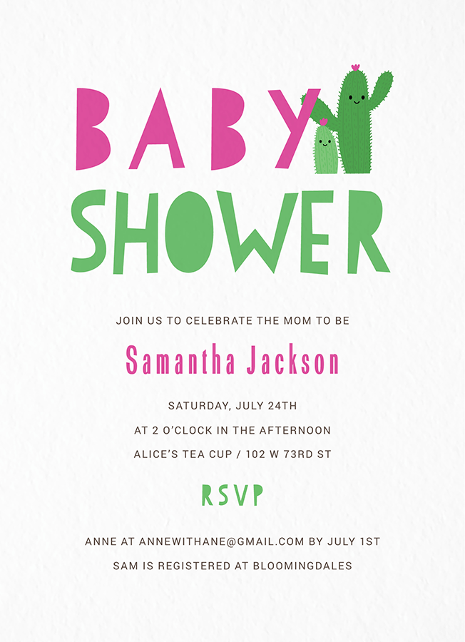 Cacti Baby Shower