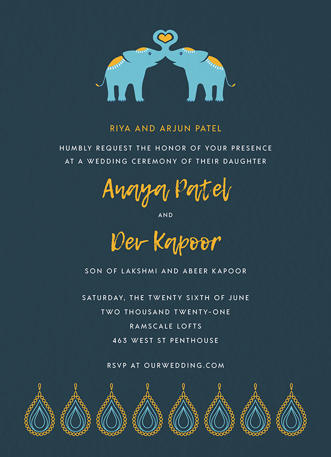 Elephant Love Invite