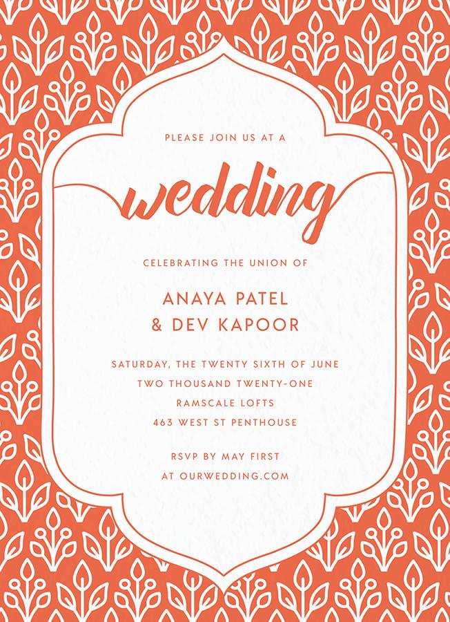 Floral Wallpaper Invite