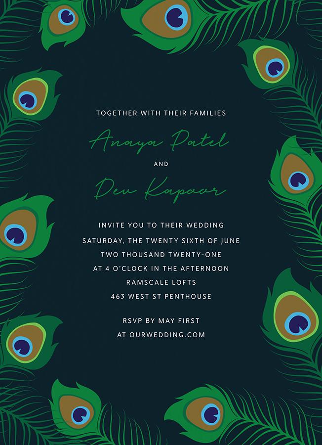 Peacock Feather Invite
