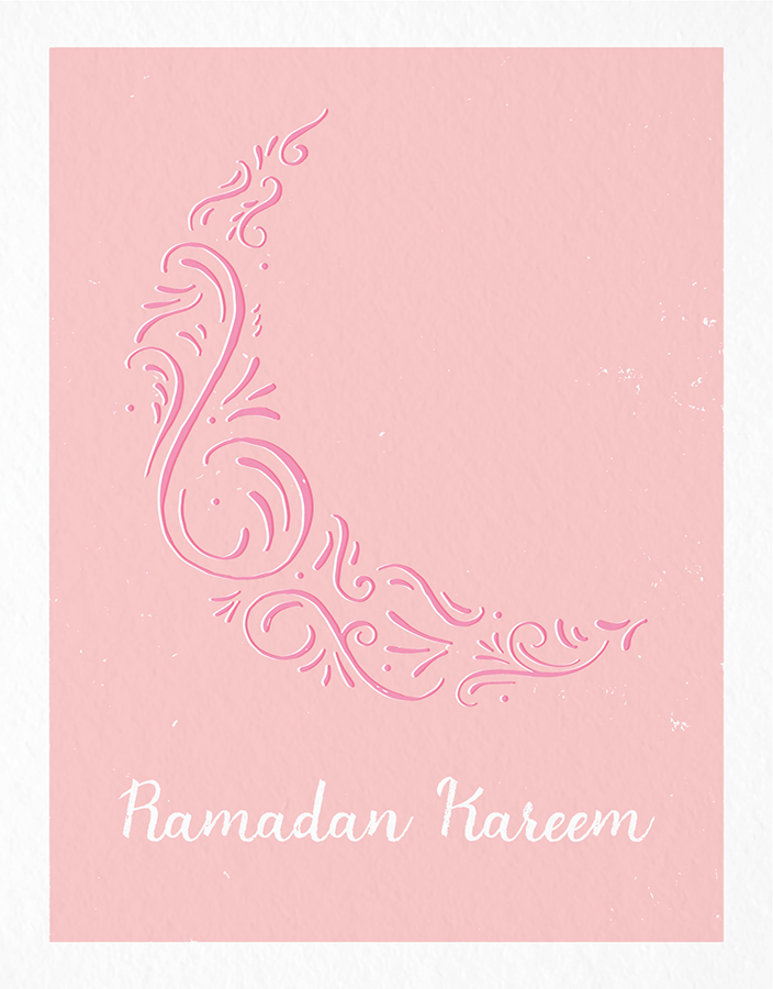 Ramadan Kareem Ornamental Moon
