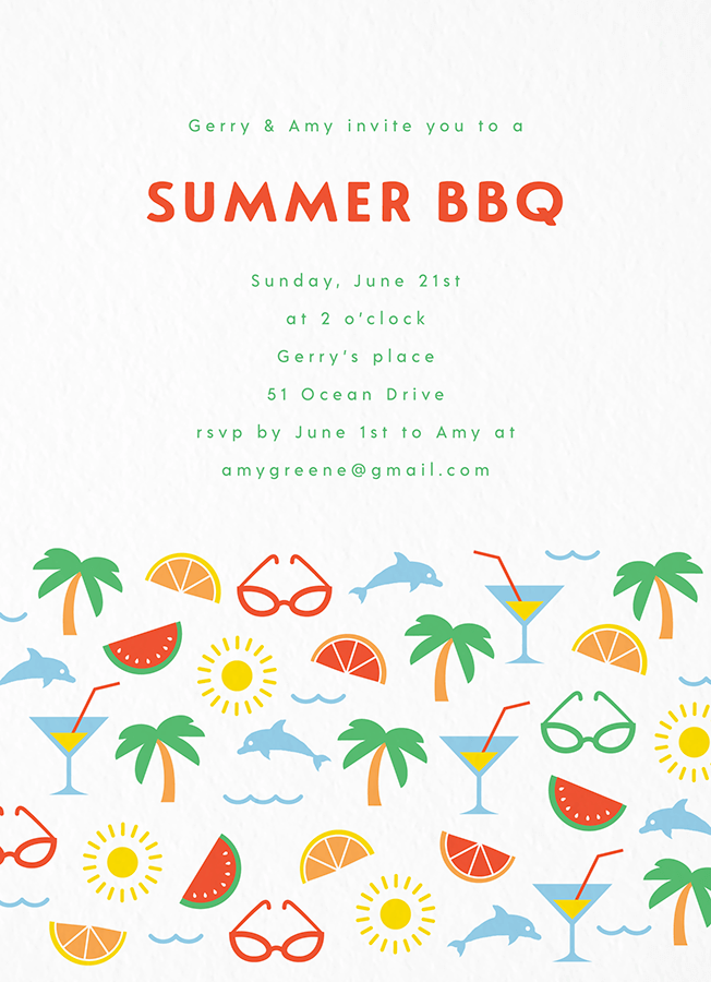 Beach Pattern Summer Invite
