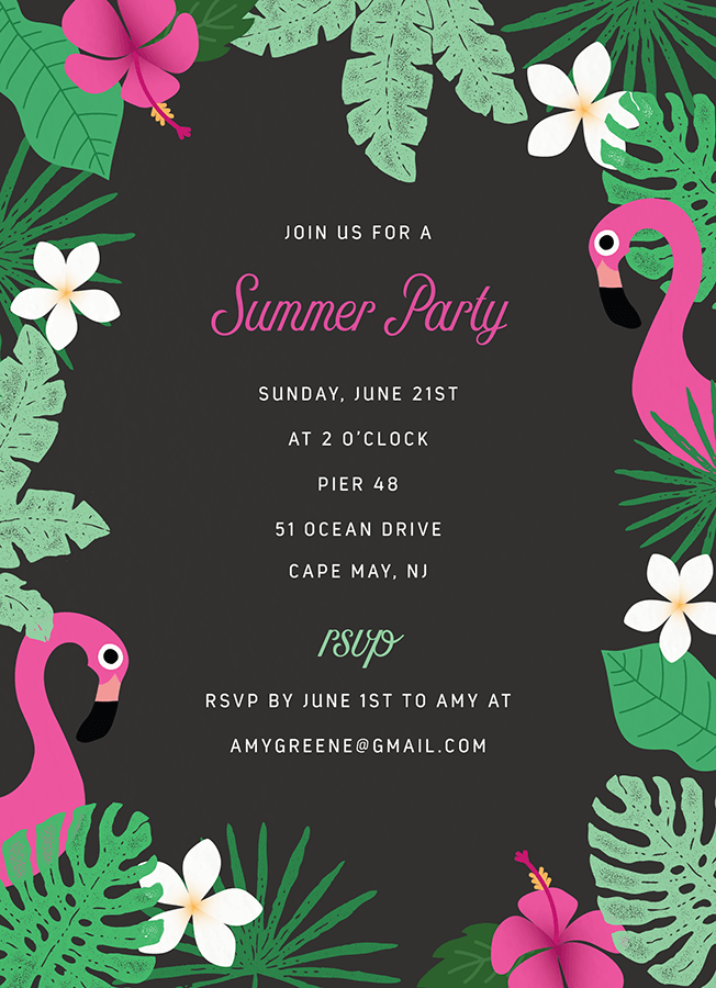 Tropical Party Invite