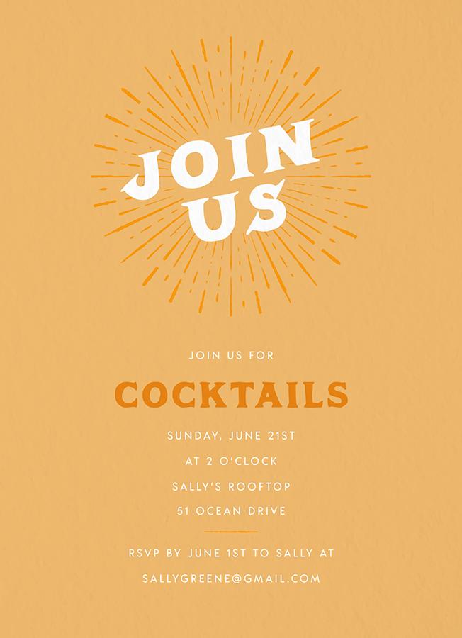 Vintage Sun Invite