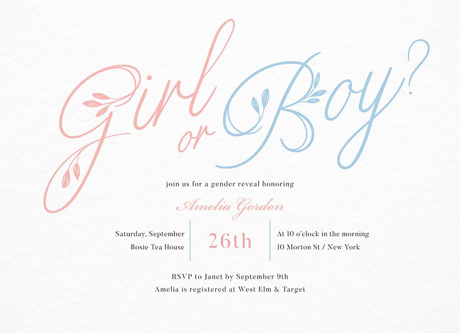 Girl Or Boy Baby Shower Script