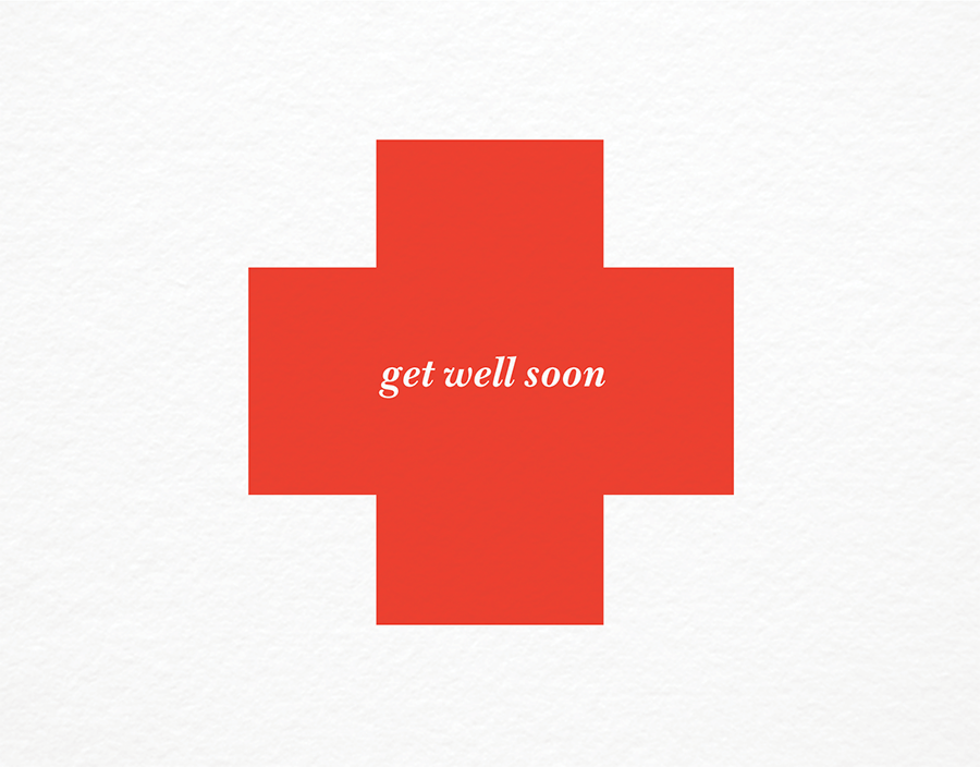 Red Cross Get Well Card