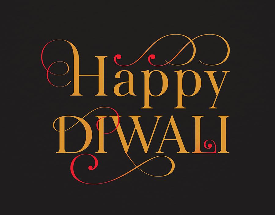 Diwali Ornamental Letters