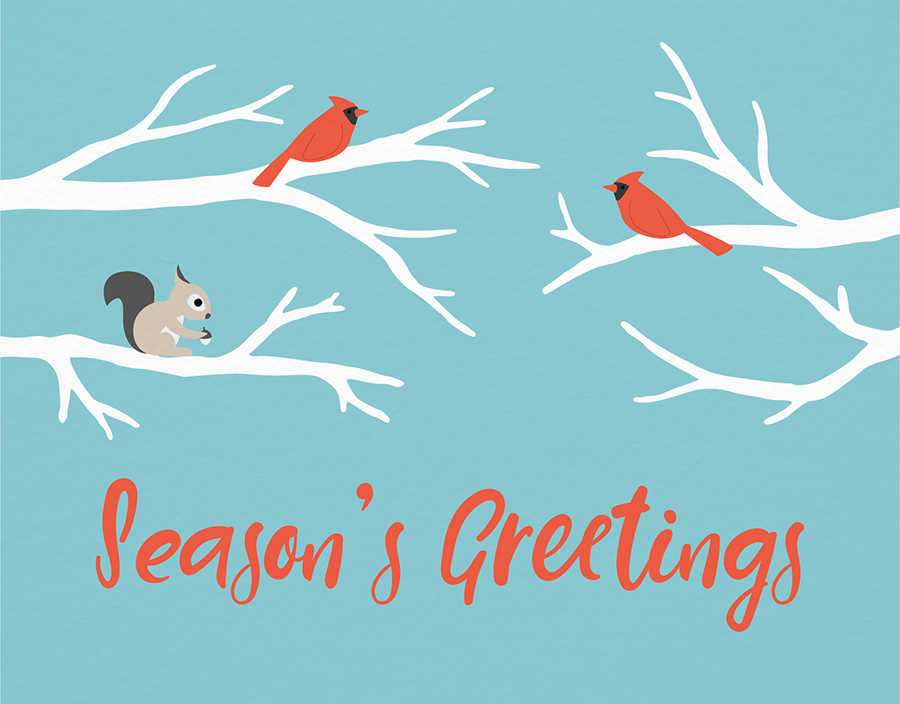 Season's Greetings Animals