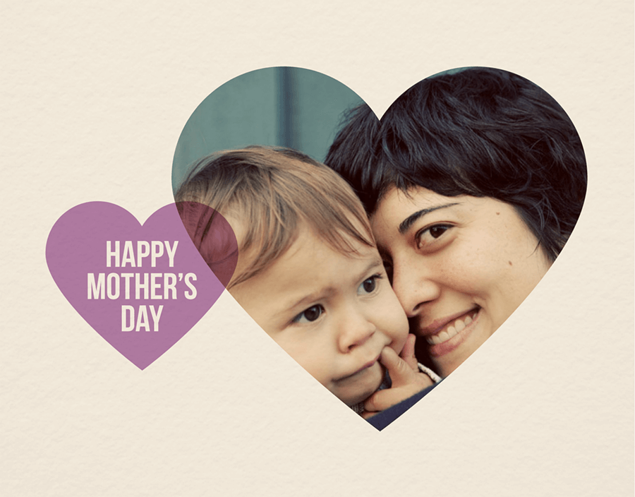 Purple Hearts Mother\'s Day Card