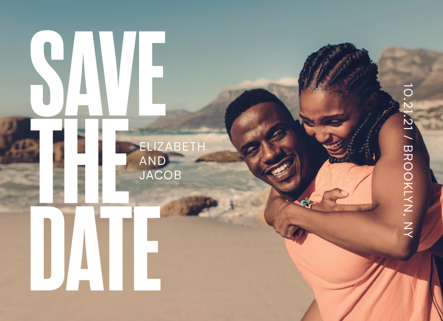Modern Sans Save The Date