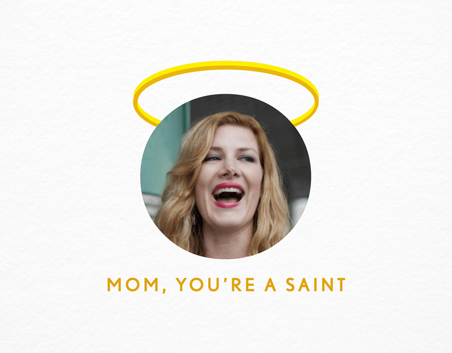 Saint Mom Photo Card