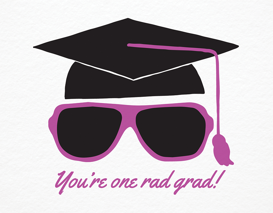 Quirky Purple Graduation Congrats Card