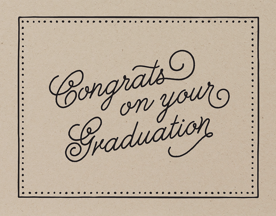 Bordered Graduation Congrats Card