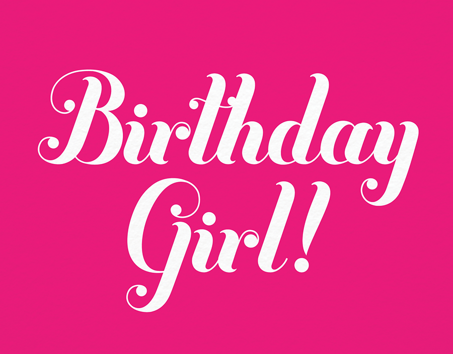 Hot Pink Birthday Card
