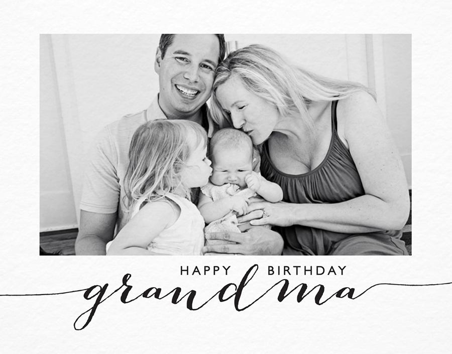 Elegant Birthday Card for Grandma