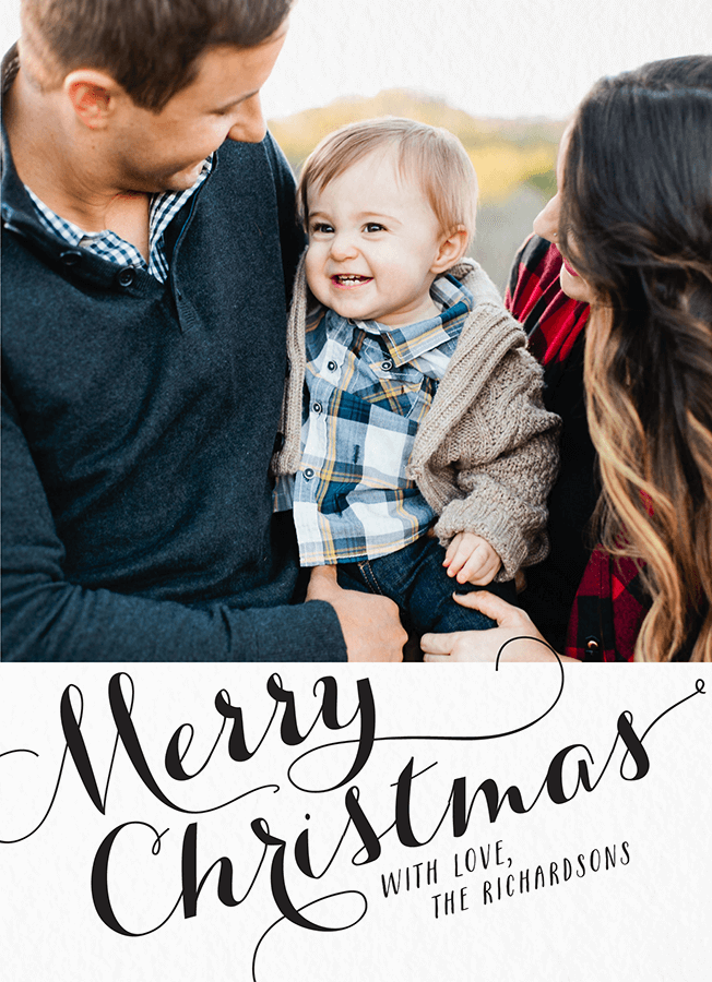 Personalized Elegant Christmas Card