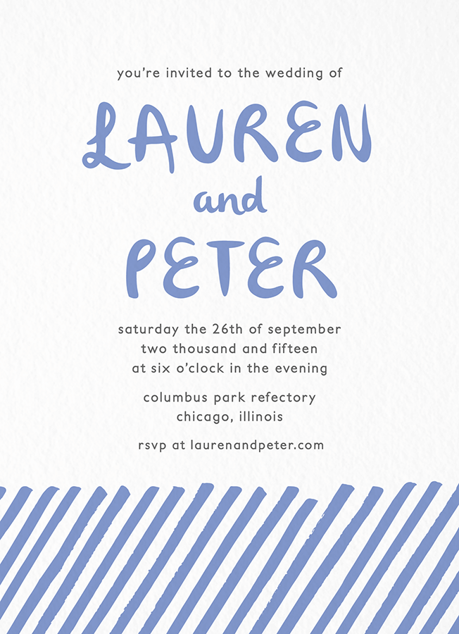 Periwinkle Lines Invitation