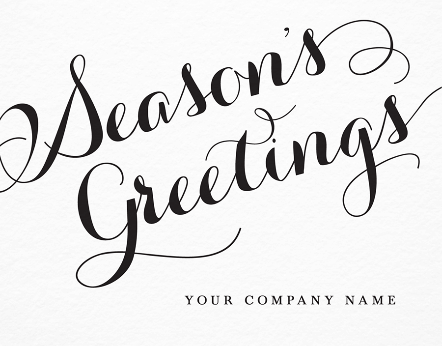 Season's Greetings Personalized Card