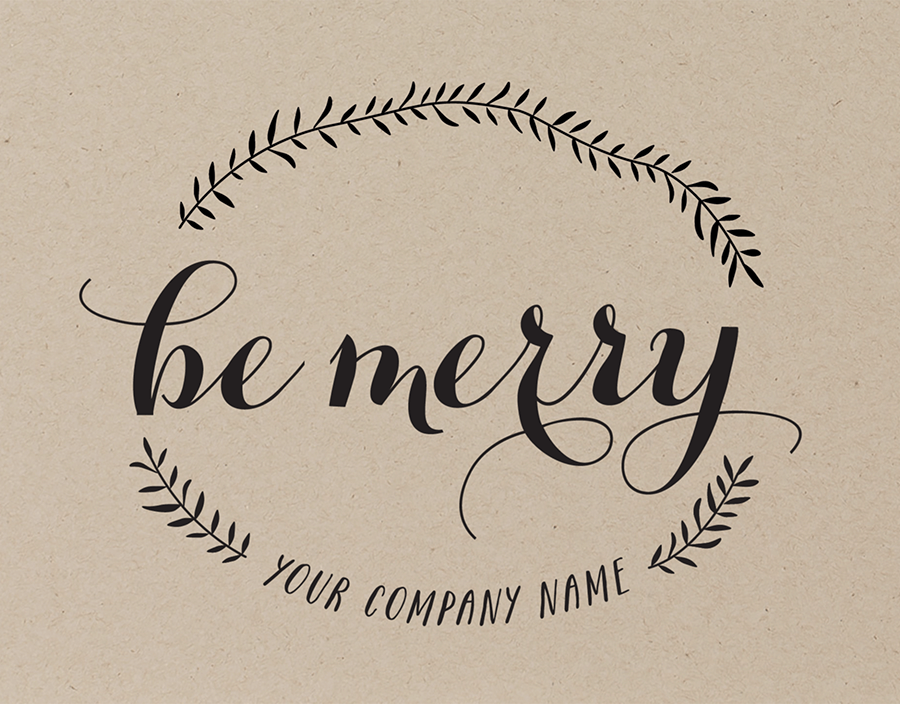 Be Merry Branch Company Holiday Card