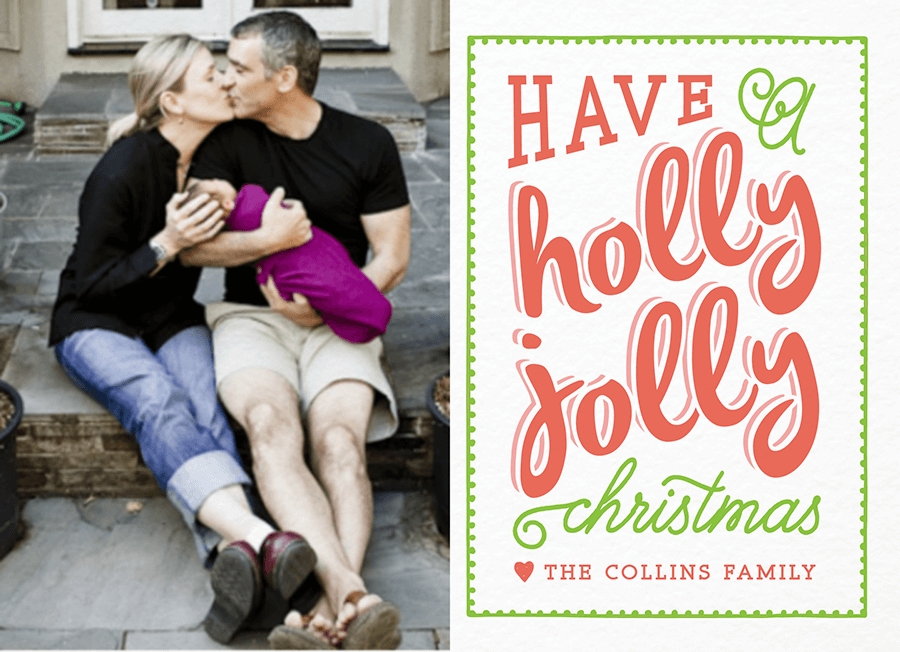 Retro Holly Jolly Christmas Card