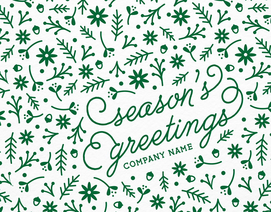 Scattered Branches Holiday Card for Business