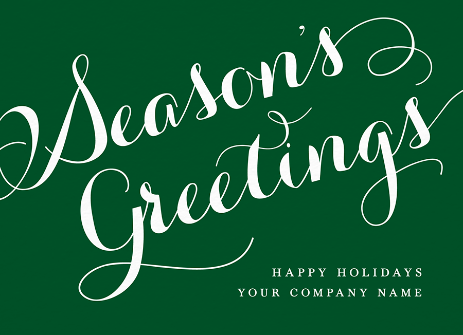 Company Season\'s Greetings Script by Postable | Postable