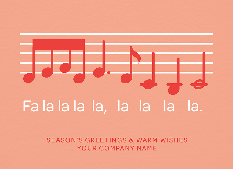 Fa La La Music Notes Custom Card