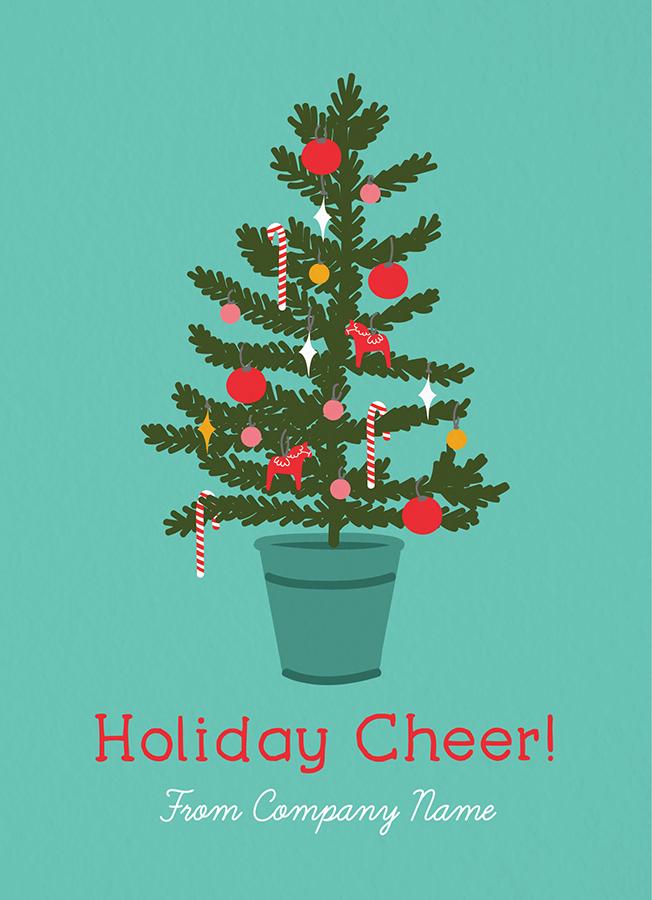 Holiday Cheer Tree Company Card