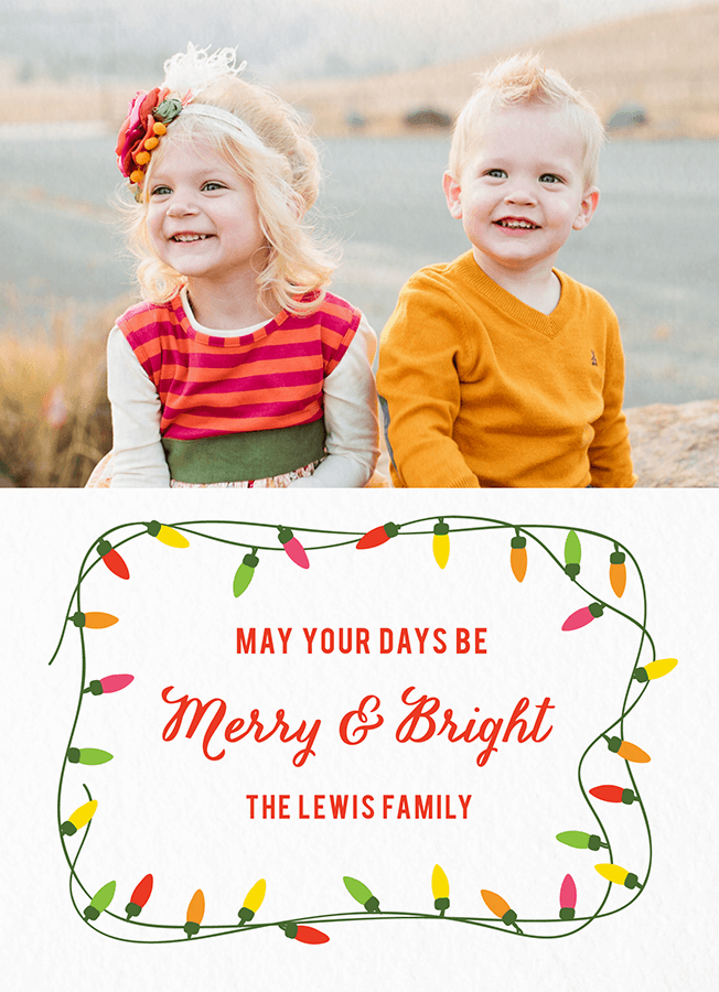 Merry and Bright LightsCustom Card