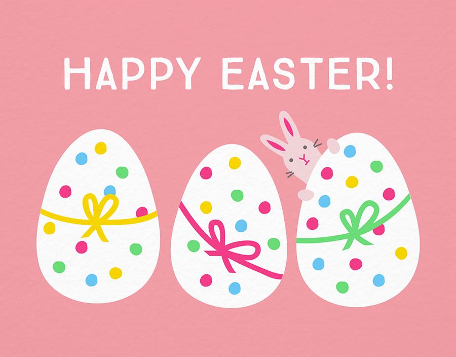 Dotty Eggs Easter Card