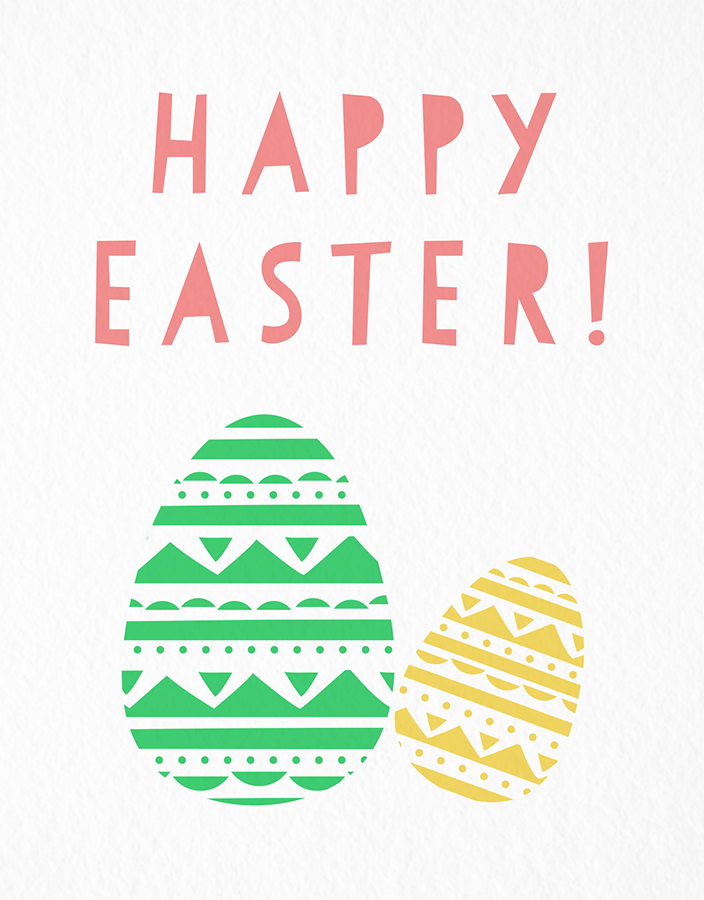 Geometric Cut Out Easter Eggs Card