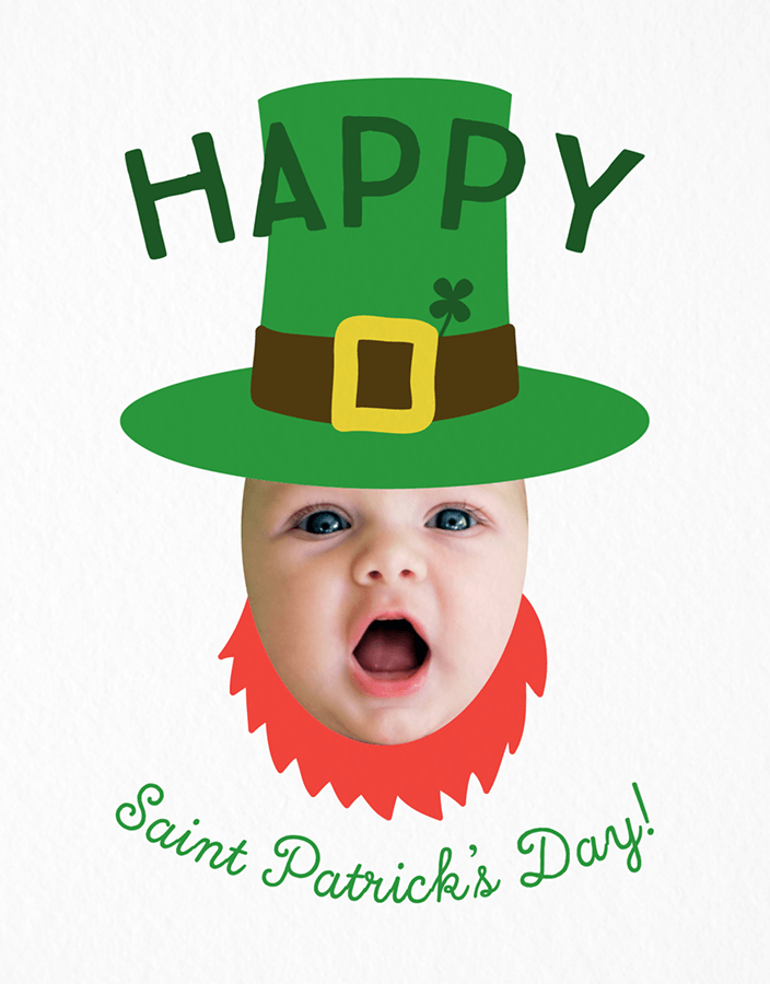 Leprechaun Baby Photo Card