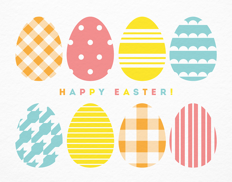 Pastel Patterned Egg Easter Card