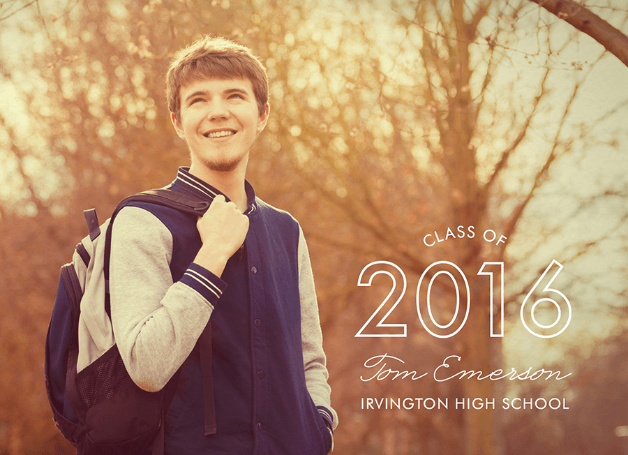 Sleek Graduation Announcement