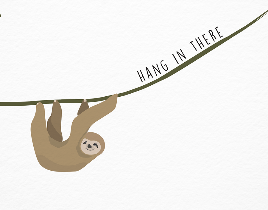 Cute Sloth Sympathy Card