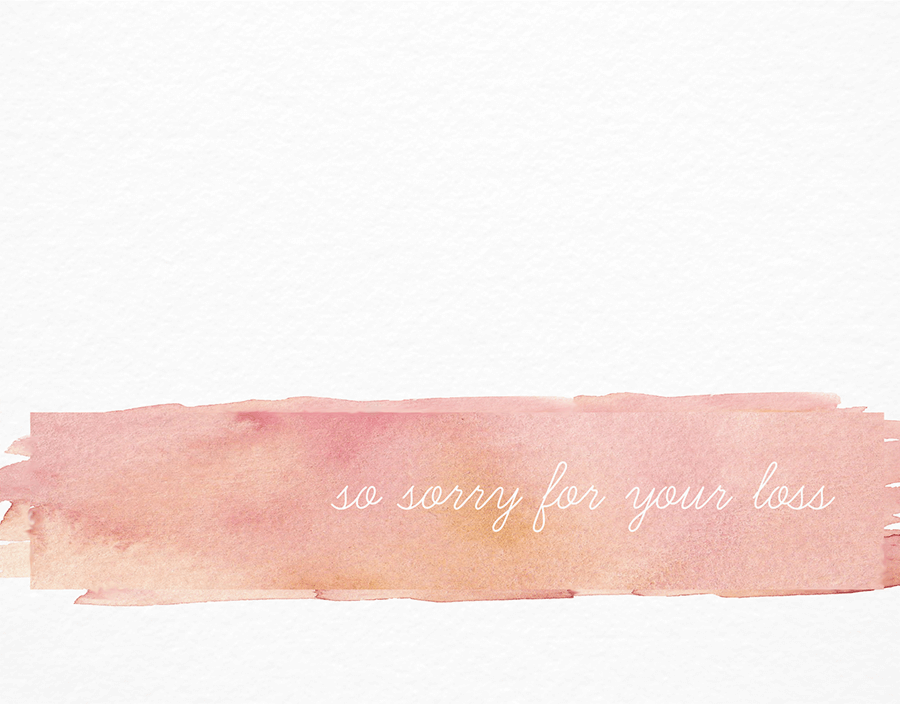 Watercolor Stroke Sympathy Card