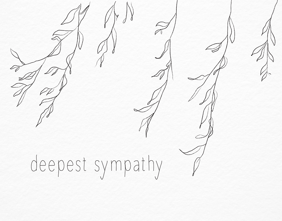 Willow Sketch Sympathy Card