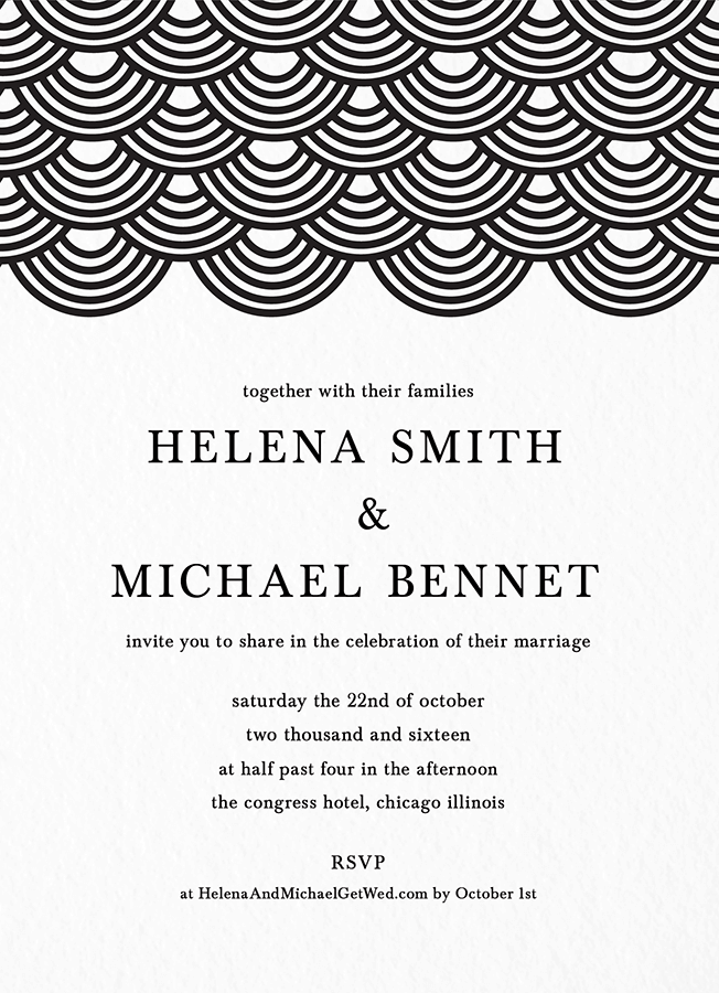 Wave Pattern Wedding Invite