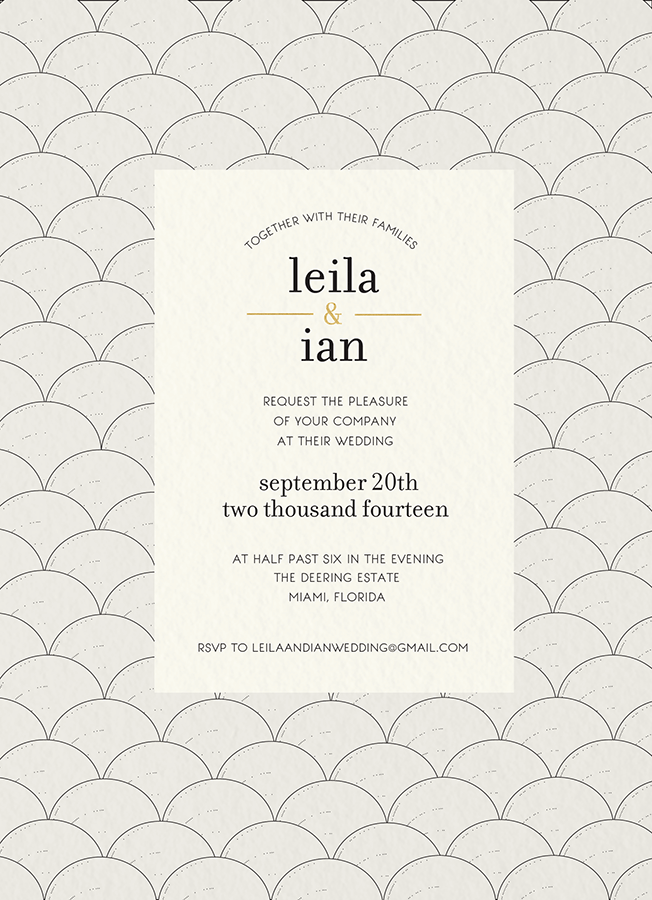 Deco Arts Wedding Invite