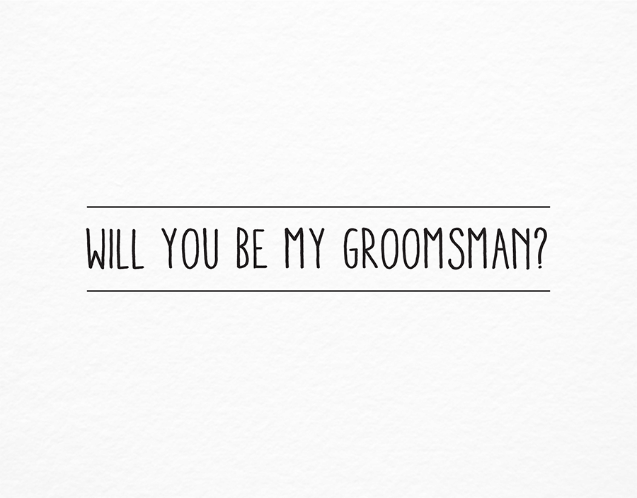Simple groomsman by postable postable simple will you be my groomsman card junglespirit Images