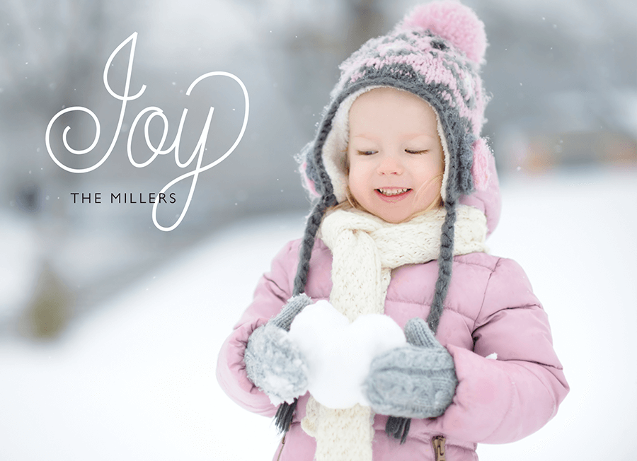 Flourish Joy Overlay Photo Holiday Card