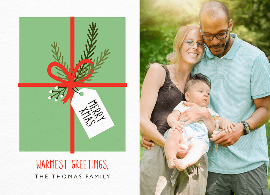 Gift Tag Xmas Photo Christmas Card