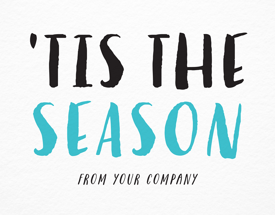 Painted Tis The Season Company Holiday Card