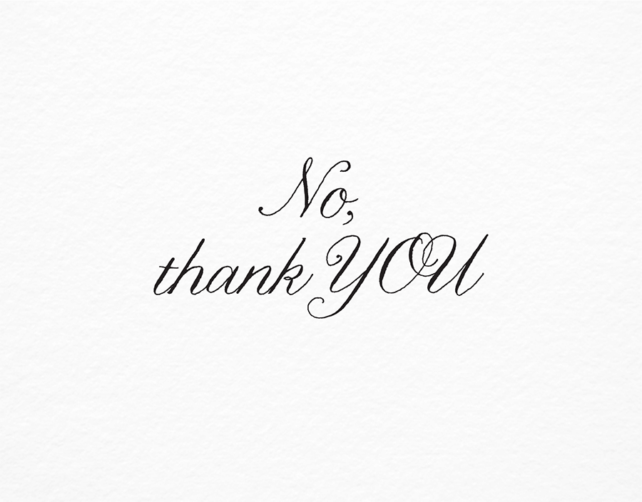 Thank You Card in Elegant Script