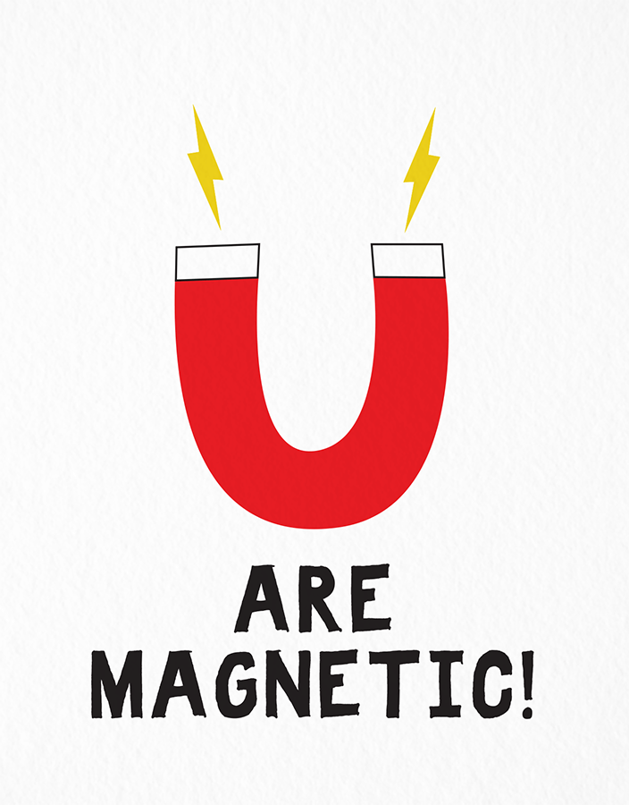 Graphic Magnetic Valentine's Card