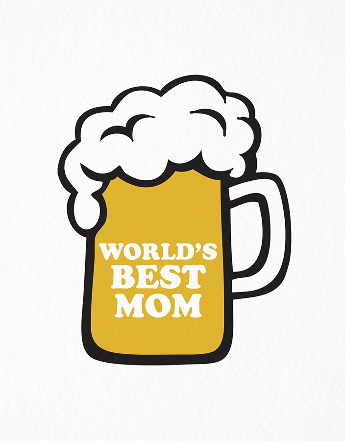 Beer Mug Mother's Day Card