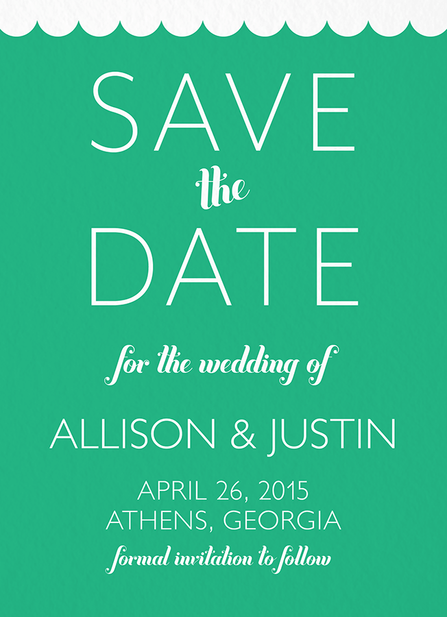 Retro Scallop Save the date