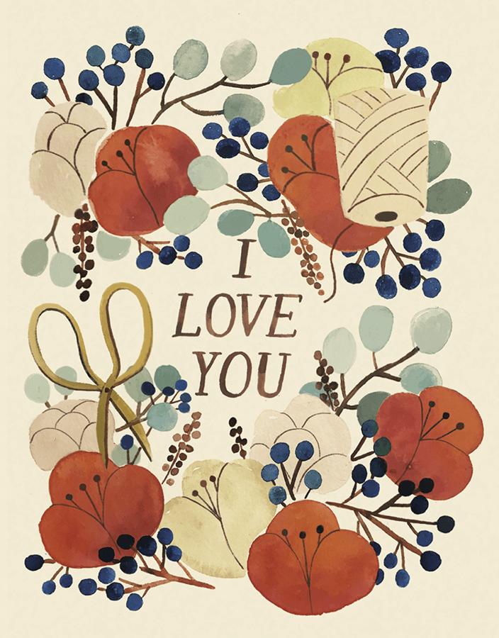 I Love You Florals
